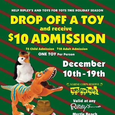 Ripley 39 S Aquarium Supports Toys For Tots