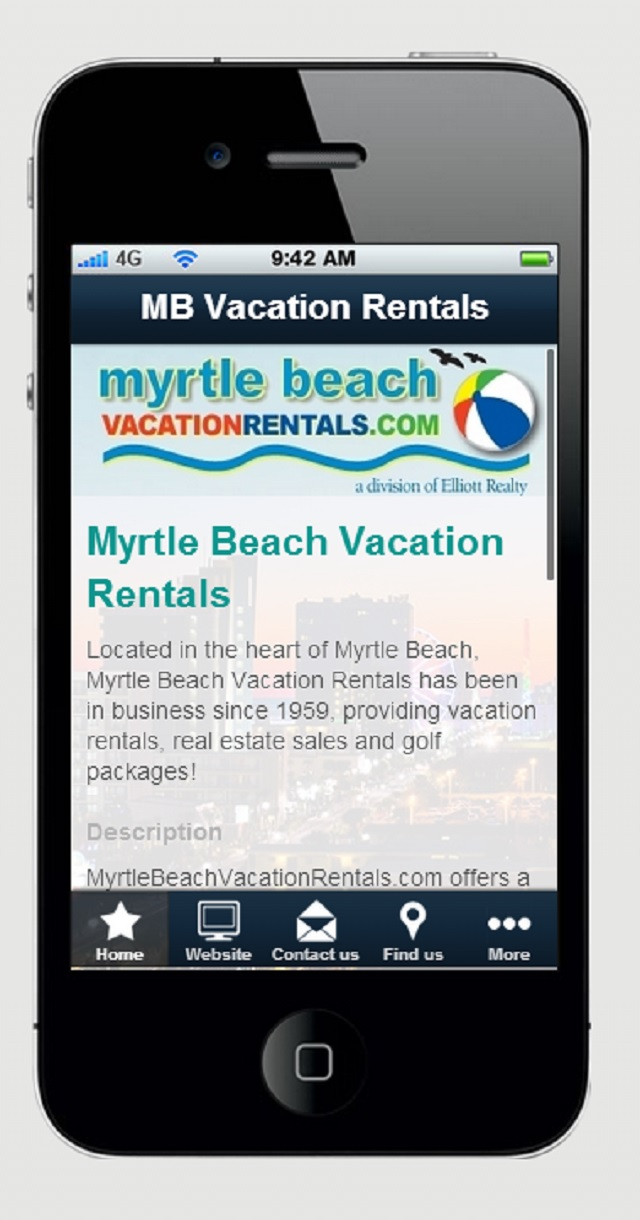 Myrtle Beach Vacation Rentals iPhone App