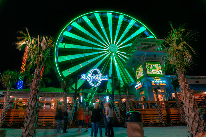 The SkyWheel in Myrtle Beach lit green for St. Patrick's Day.